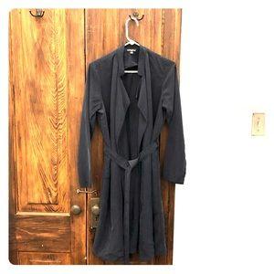 American Apparel navy blue duster coat